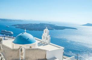 希腊8日游(雅典5星+圣岛2晚悬崖酒店)