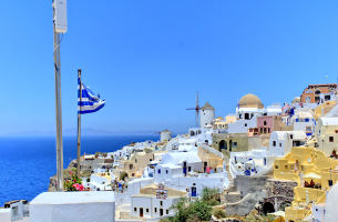 QR希腊一地半自由8日游(双岛:圣托里尼+米克诺斯岛)