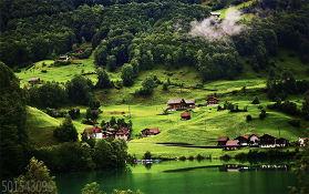 去瑞士旅游,《愛的迫降》取景地,美得和壁紙一樣的珍珠小鎮